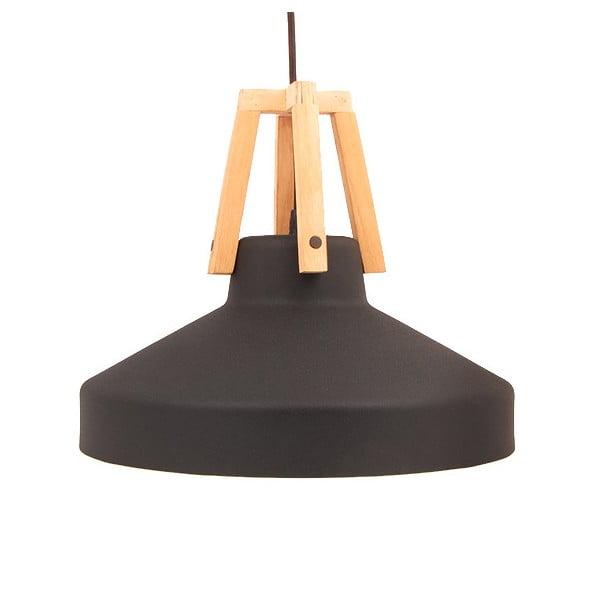 Čierne stropné svetlo Loft You Work, 33 cm