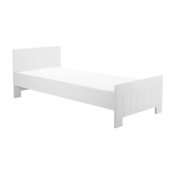 Biela detská posteľ Pinio Calmo, 140×70cm