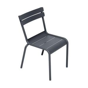 Antracitová detská stolička Fermob Luxembourg