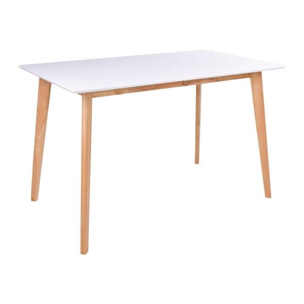 Jedálenský stôl s bielou doskou loomi.design Vojens