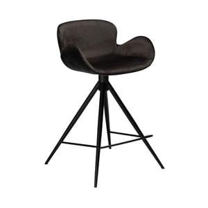 Čierna barová stolička DAN–FORM Denmark Gaia Velvet, výška 87 cm