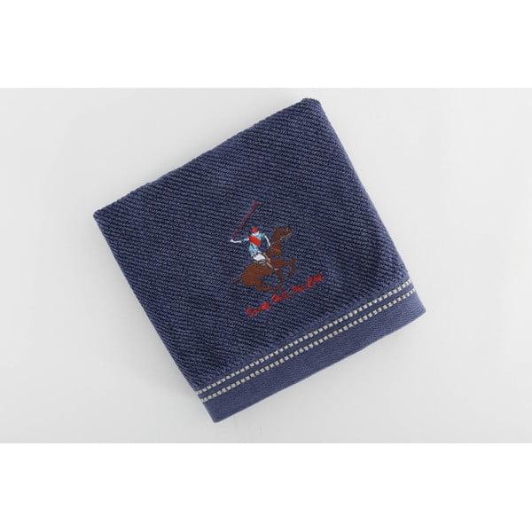 Bavlnený uterák BHPC s výšivkou 50x100 cm, tmavomodrý