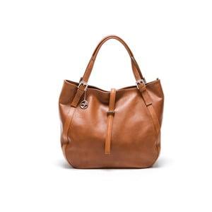 Kožená kabelka Carla Ferreri 2109 Cognac