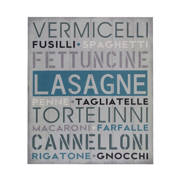 Drevený obraz Lasagne, 25x30 cm