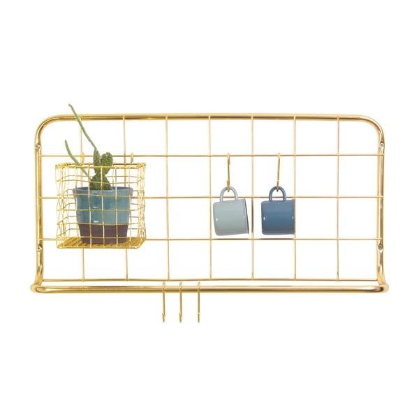 Nástenný organizér v zlatej farbe Present Time Open Grid