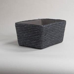 Sivý pletený úložný košík Compactor Hawai