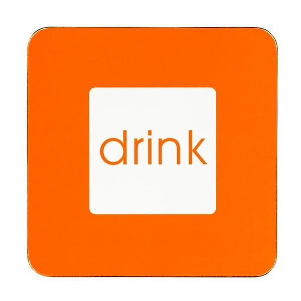 Set 4 podložiek pod hrnček/pohár Drink Orange