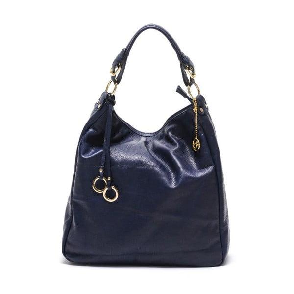 Kožená kabelka Carla Ferreri 2087 Blu