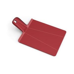 Červená skladacia doštička na krájanie Joseph Joseph Chop2Pot Plus, dĺžka 38 cm