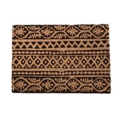 Béžovo-čierna rohožka InArt Tribal, 40×60cm