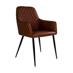 Hnedá stolička s opierkami House Nordic Harbo