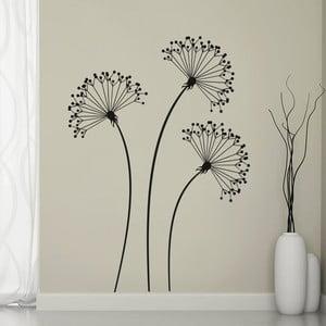 Dekoratívna samolepka na stenu Tri čierne kvety