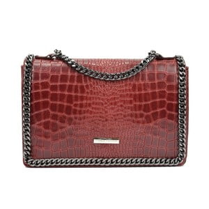 Červená kožená kabelka Carla Ferreri Kamullo