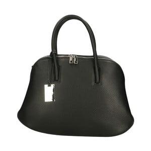 Čierna kožená kabelka Roberto Buono Bella