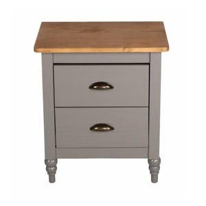 Sivý nočný stolík z borovicového dreva SOB Irelia
