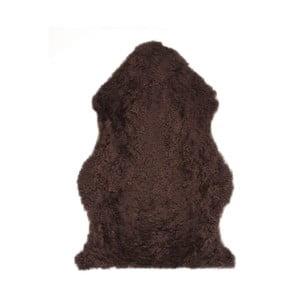 Ovčia kožušina Curly Coffee, 90 cm