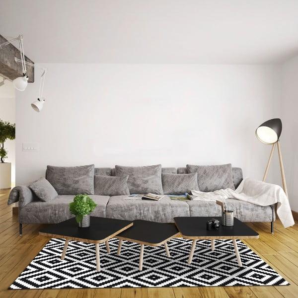 Odolný vinylový koberec Black and White, 140x200 cm