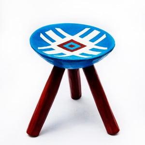 Ručně maľovaná stolička Lunca, 28 cm