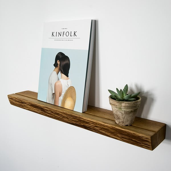 Polica NUTSANDWOODS Book, 9x60x4 cm