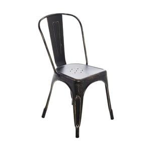 Čierna jedálenská stolička InArt Antique