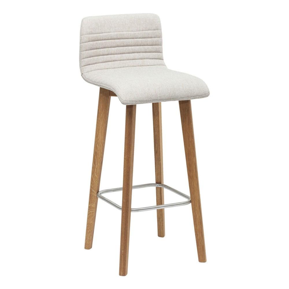 Sada 2 krémových barových stoličiek Kare Design Lara