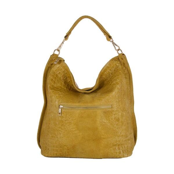 Žltá kabelka z pravej kože Andrea Cardone Edvige