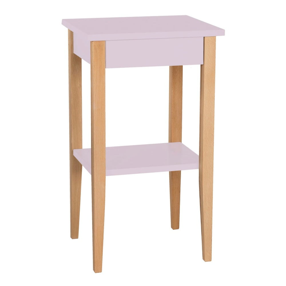 Ružový odkladací stolík Ragaba Entlik