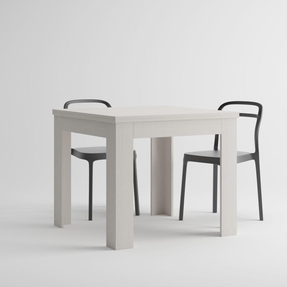 Biely rozkladací jedálenský stôl MobiliFiver Eldorado, dĺžka 90-180 cm