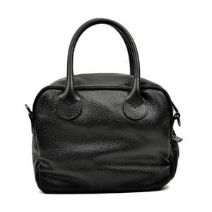 Čierna kožená kabelka Carla Ferreri Ludmilla Cesso