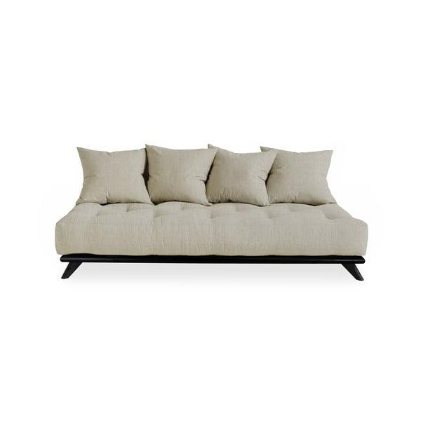 Pohovka s ľanovým poťahom Karup Design Senza Black/Linen