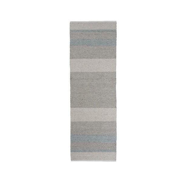 Ručne tkaný koberec Linie Design Norwich Aqua, 80x250cm