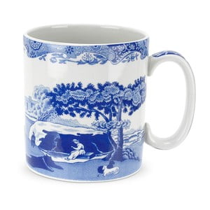 Sada 4 bielo-modrých porcelánových hrnčekov Spode Blue Italian, 250 ml