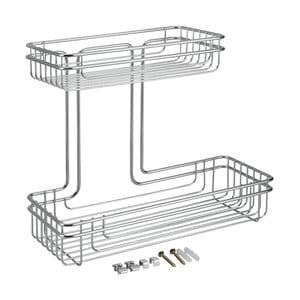 2-poschodový nástenný košík z antikoro ocele Metaltex Cuba