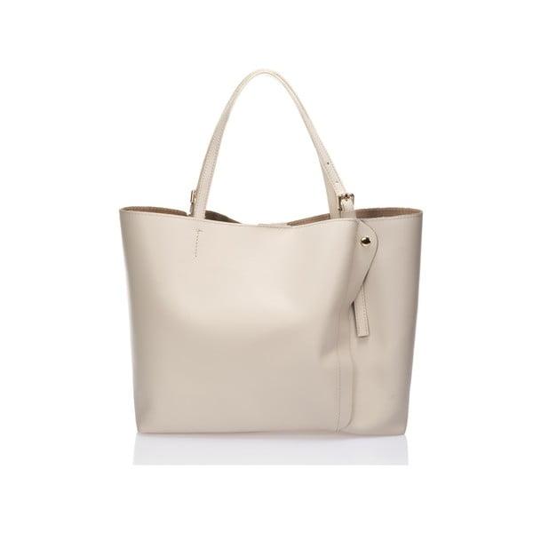Béžová kožená kabelka Lisa Minardi Graema