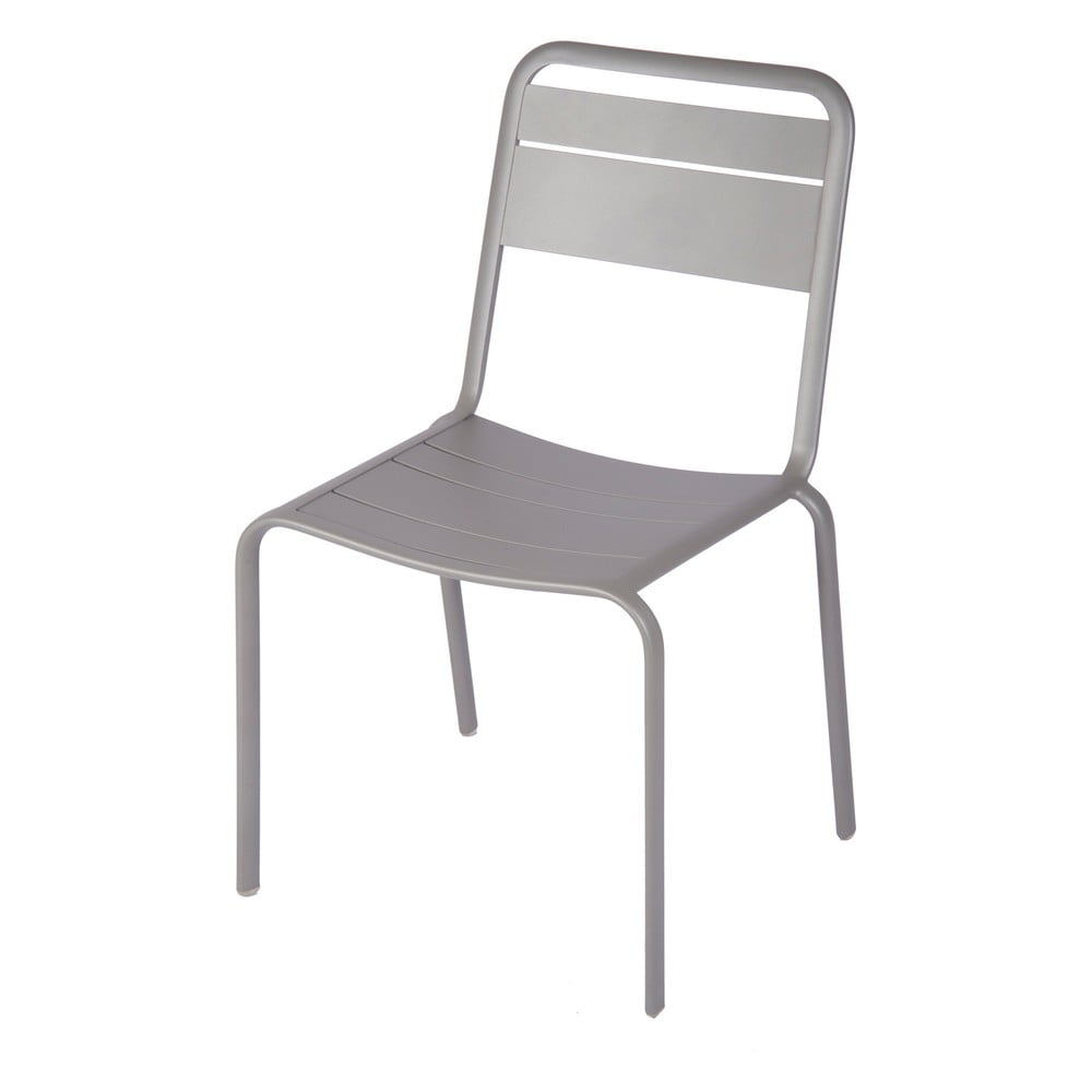 Sada 4 sivých záhradných stoličiek Ezeis Lambretta