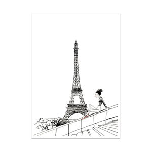 Plagát Leo La Douce Un Jour A Paris, 29,7x42cm
