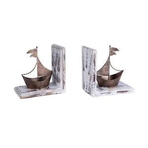Sada 2 knižných zarážok Brass Ship