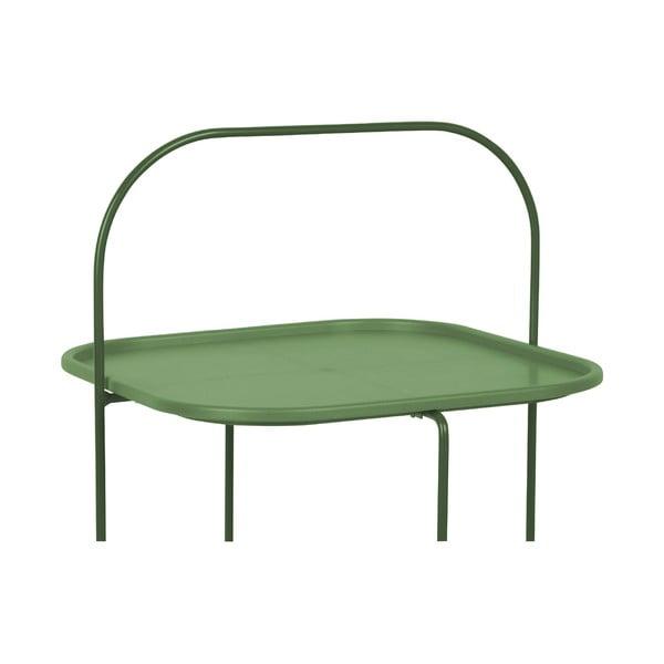 Tmavozlený odkladací stolík Leitmotiv Trays