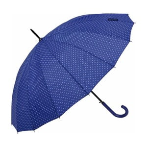 Tmavomodrý tyčový dáždnik Ambiance Triangles, ⌀ 122 cm