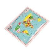 Čistiaca handrička na okuliare Rex London World Map
