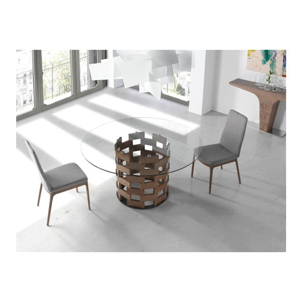 Jedálenská stolička s podnožím z orechového dreva Ángel Cerdá Maki