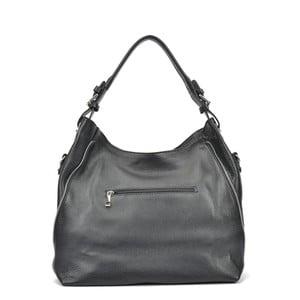 Čierna kožená kabelka Mangotti Patrisha