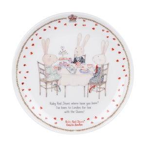 Dezertný tanier z kostného porcelánu Ashdene Ruby Red London Cousins, ⌀15cm