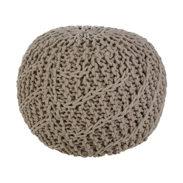 Pletený puf Bosie, béžový