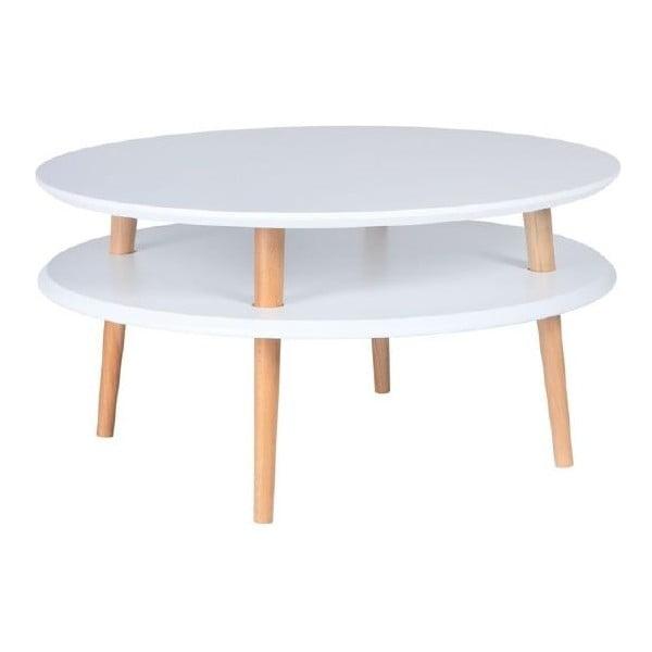 Biely konferenčný stolík Ragaba UFO,Ø70cm