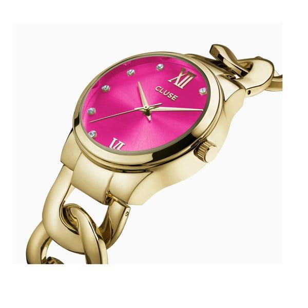 Dámské hodinky Elegante Stones Gold/Cerise, 38 mm