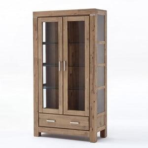 Svetlohnedá dvojdverová vitrína zakáciového dreva SOB Sydney