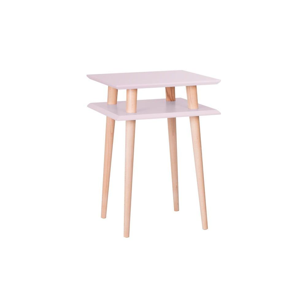 Ružový odkladací stolík Ragaba Square, 43 × 43 cm