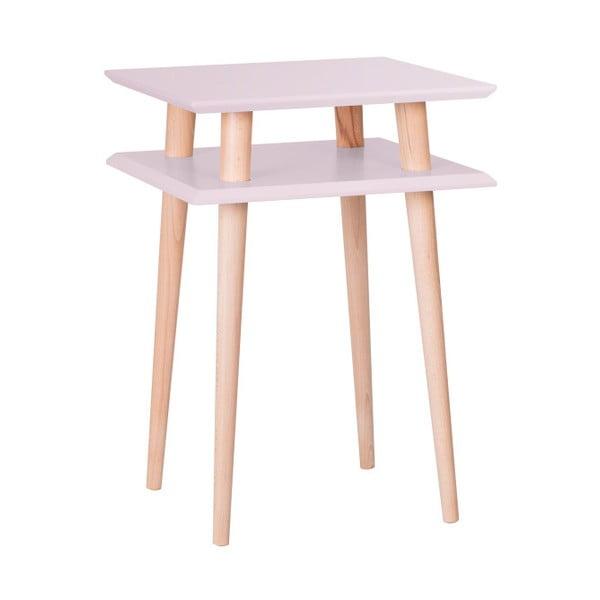 Ružový konferenčný stolík Ragaba Square, 43x43cm