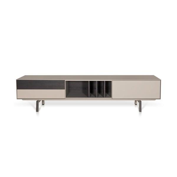 Televízny stolík Vintme AL2, 200cm, béžová/dub